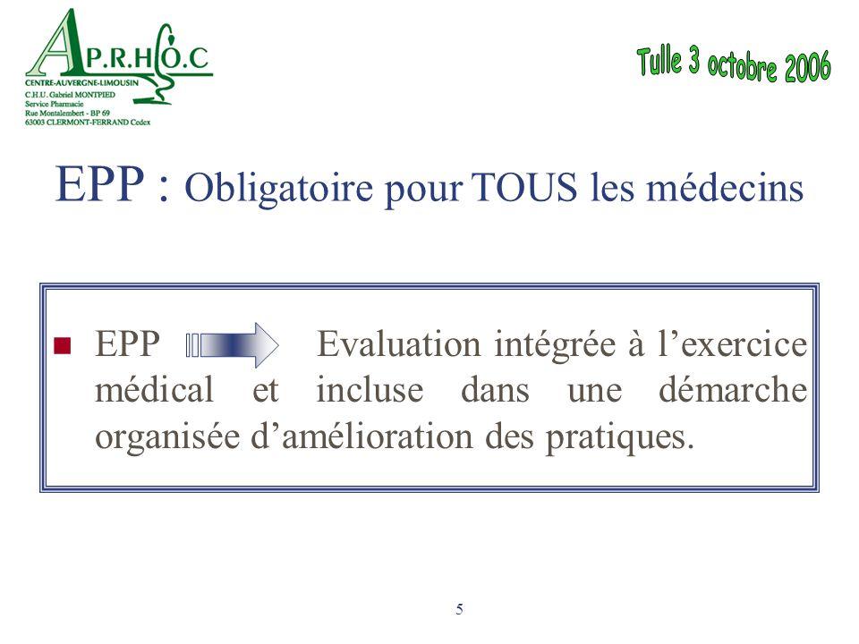 EPP : Obligatoire pour TOUS les médecins