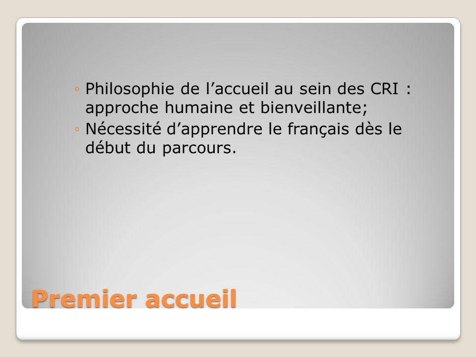 Philosophie de l'accueil au sein des CRI : approche humaine et bienveillante;