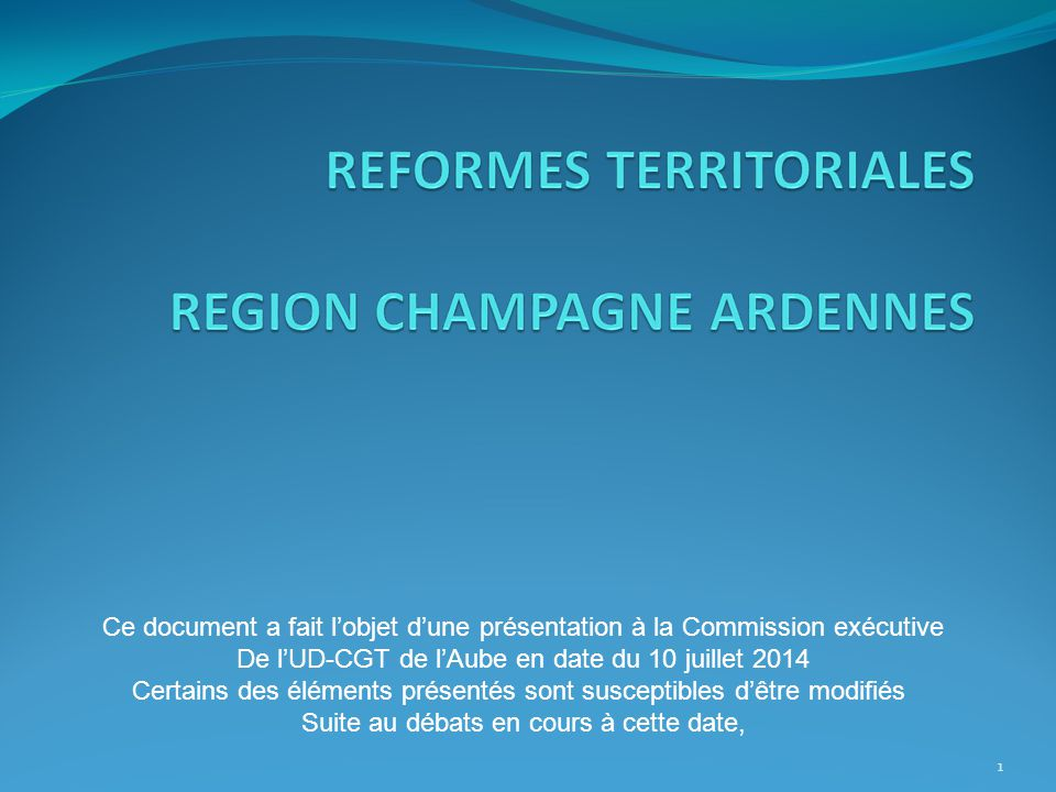 De l'UD-CGT de l'Aube en date du 10 juillet 2014