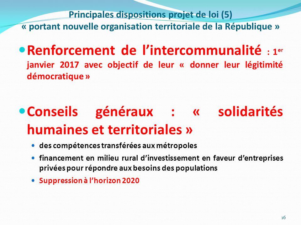 Conseils généraux : « solidarités humaines et territoriales »