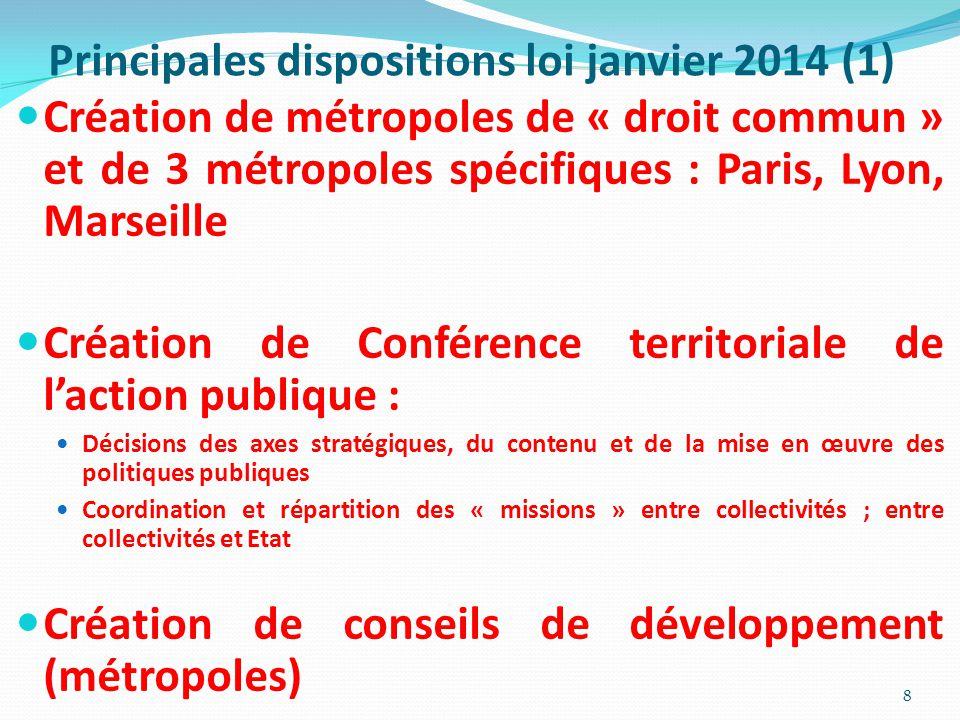 Principales dispositions loi janvier 2014 (1)