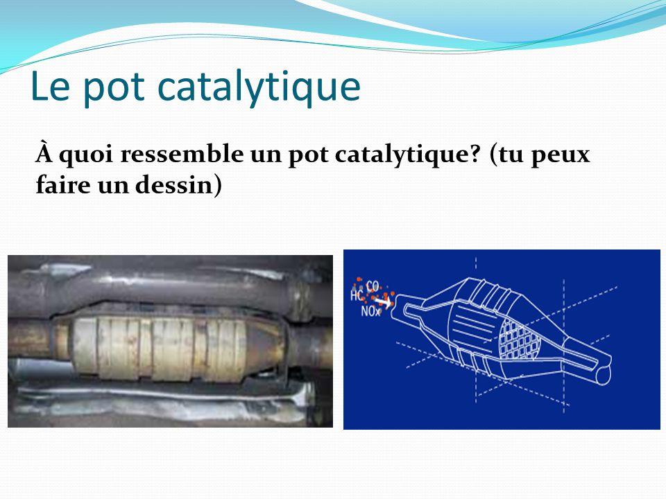Le pot catalytique À quoi ressemble un pot catalytique (tu peux faire un dessin)