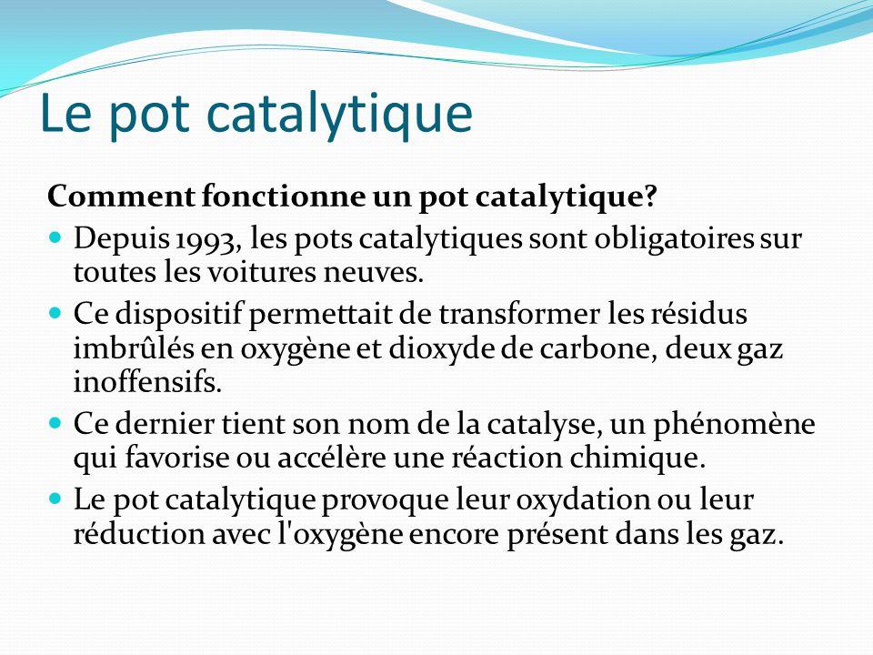 Le pot catalytique Comment fonctionne un pot catalytique