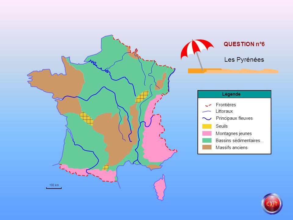 Les Pyrénées QUESTION n°6 Légende Frontières Littoraux