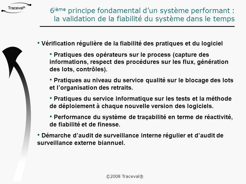 6ième principe fondamental d'un système performant :