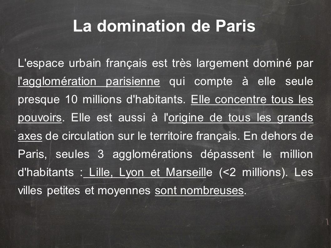 La domination de Paris
