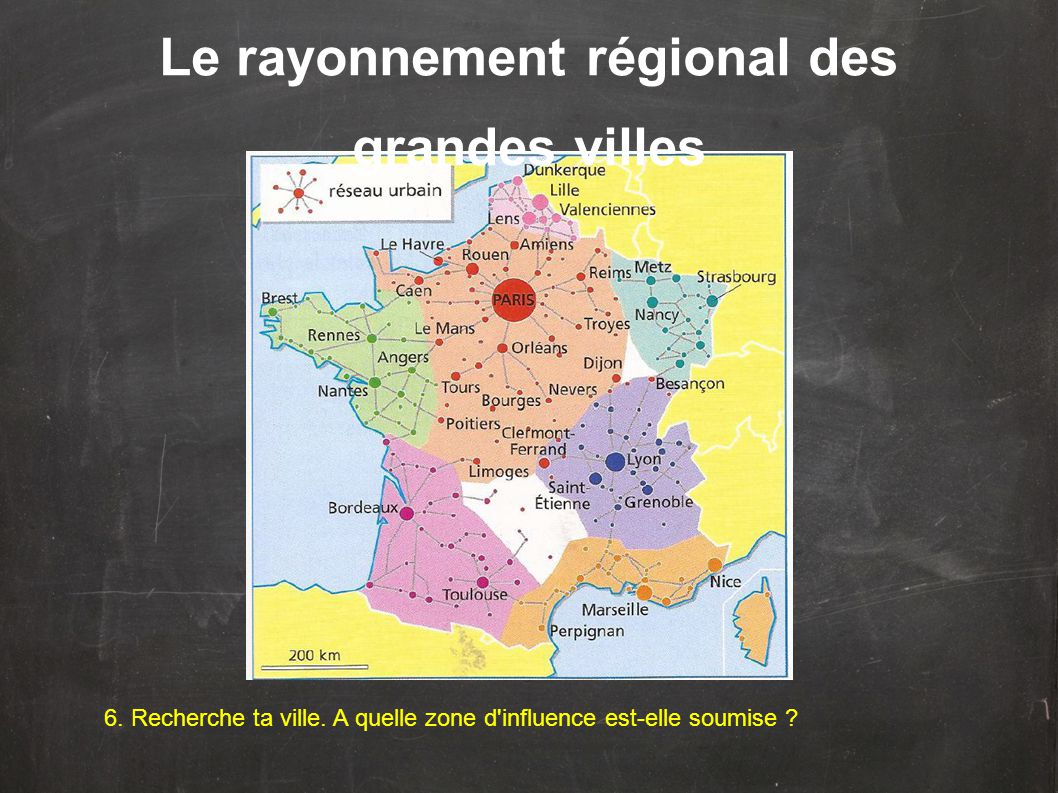 Le rayonnement régional des grandes villes
