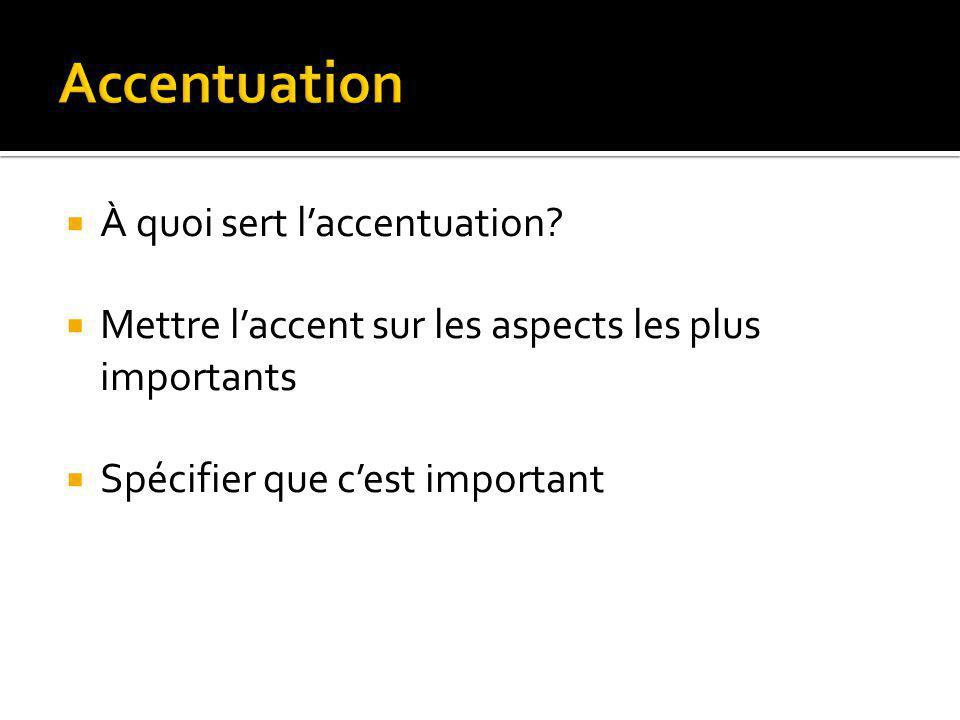 Accentuation À quoi sert l'accentuation