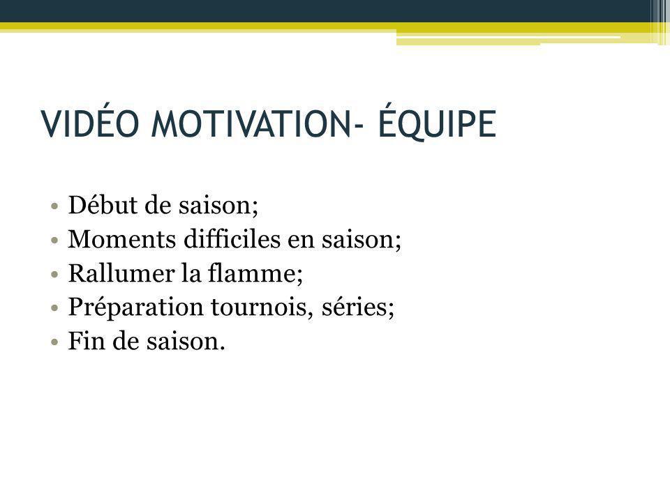 VIDÉO MOTIVATION- ÉQUIPE