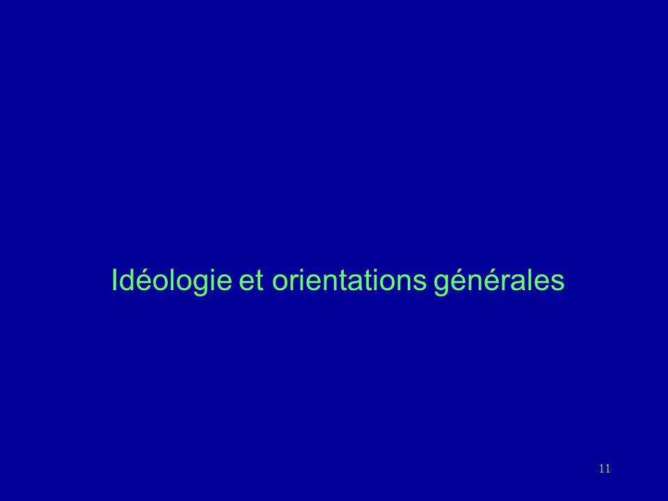 Idéologie et orientations générales