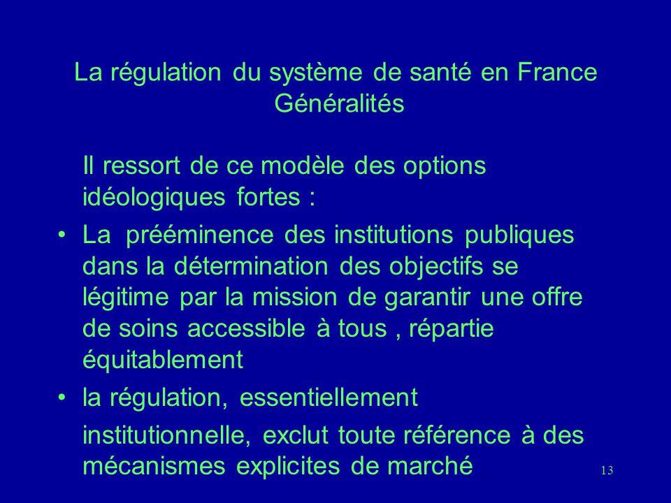 La régulation du système de santé en France Généralités
