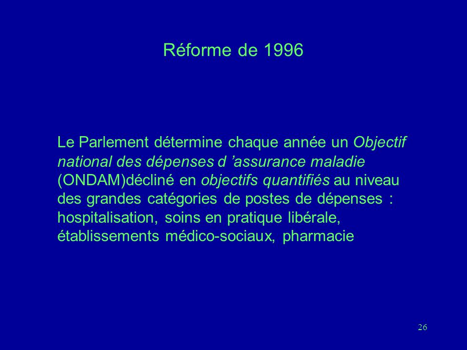 Réforme de 1996