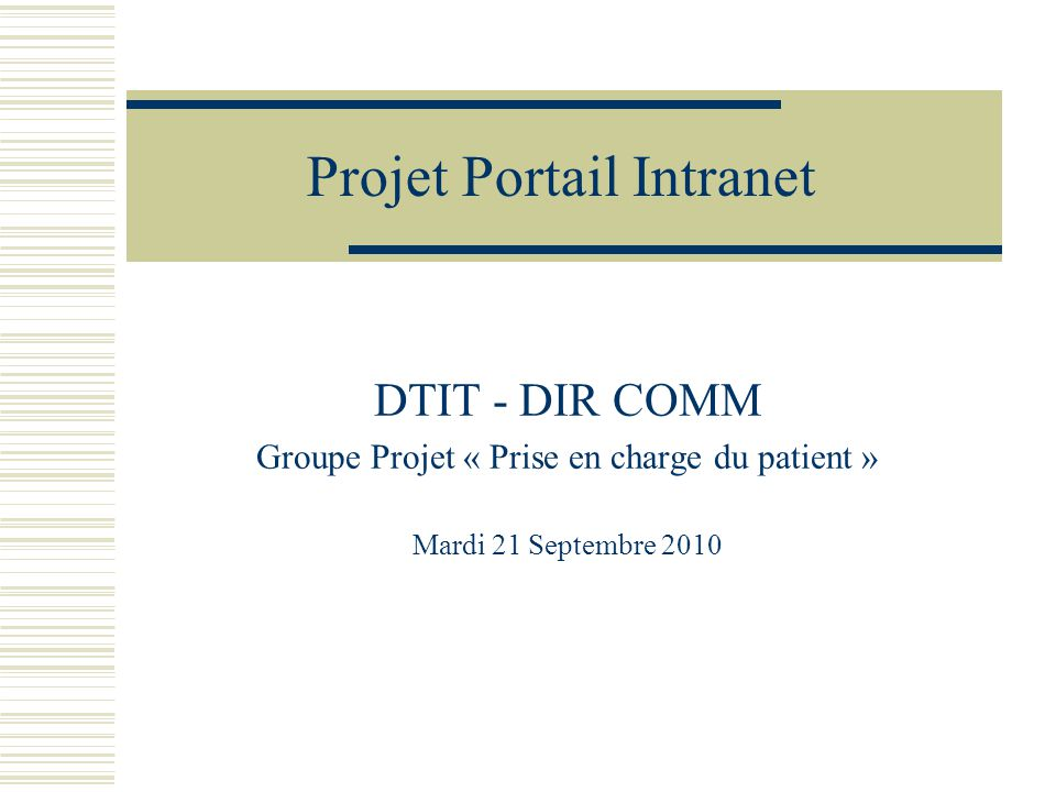 Projet Portail Intranet