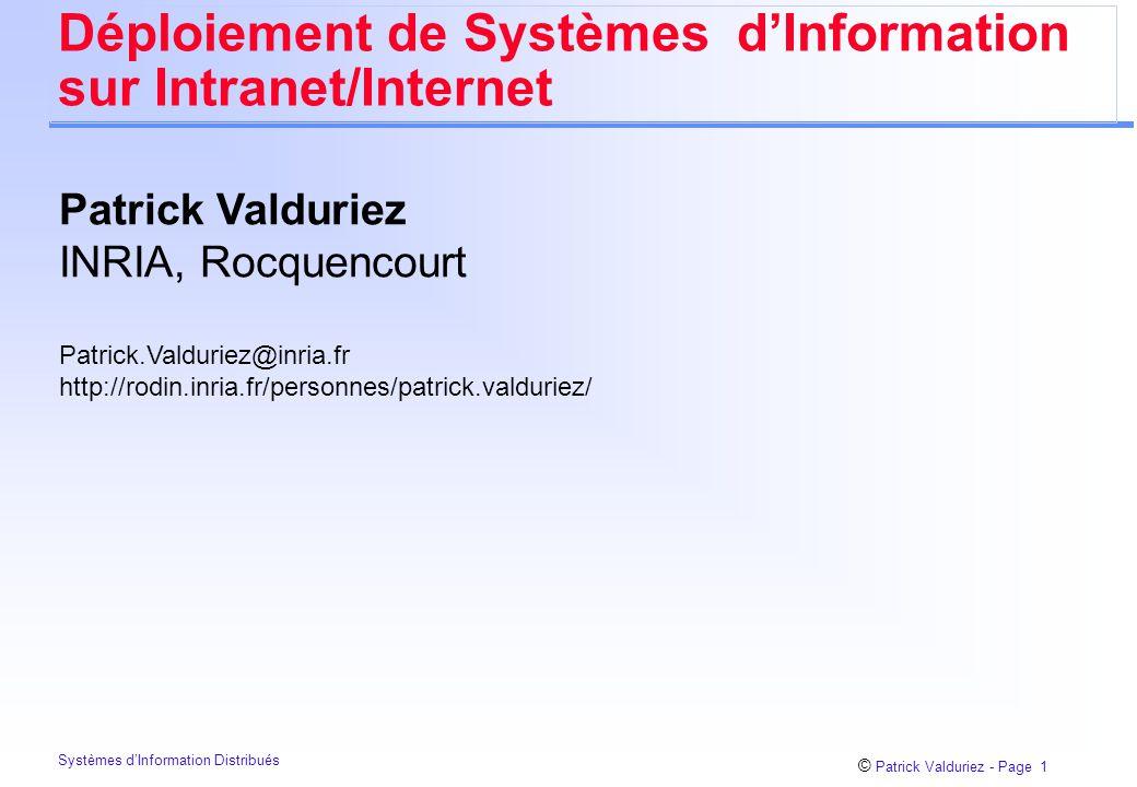 Déploiement de Systèmes d'Information sur Intranet/Internet