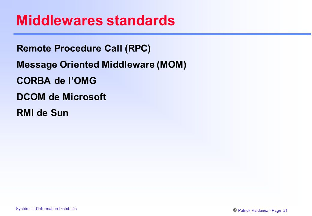 Middlewares standards