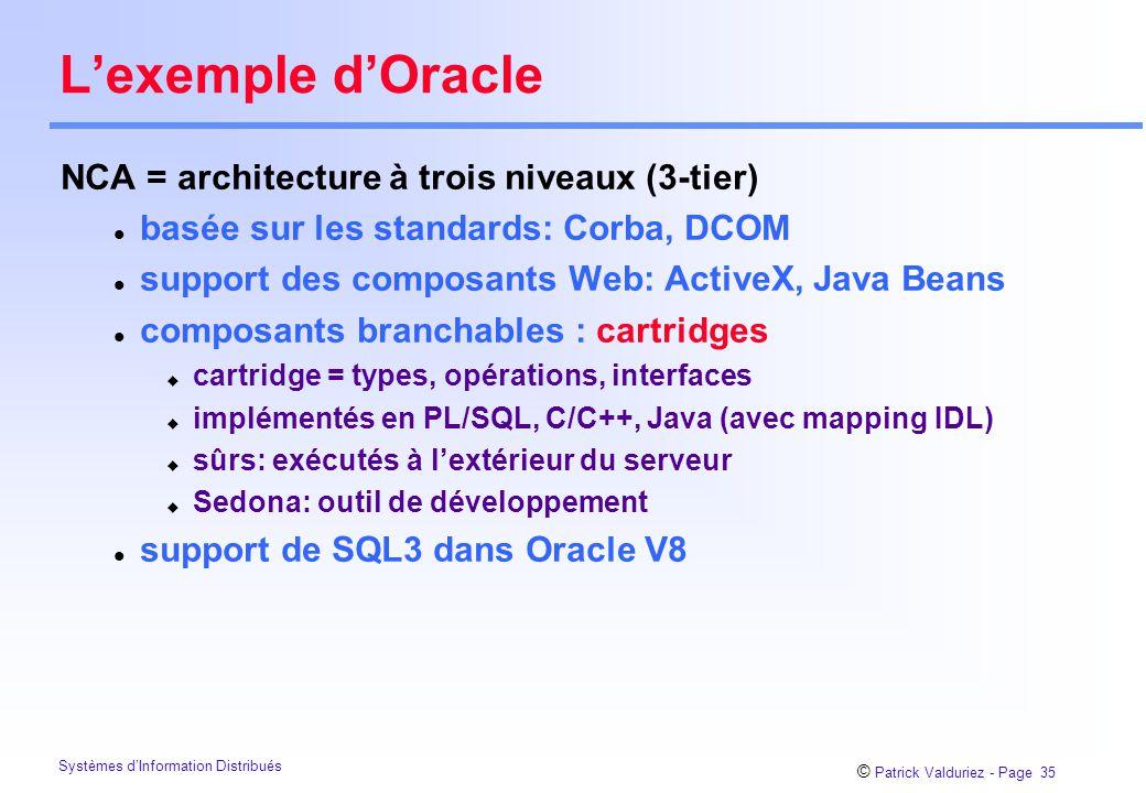 L'exemple d'Oracle NCA = architecture à trois niveaux (3-tier)