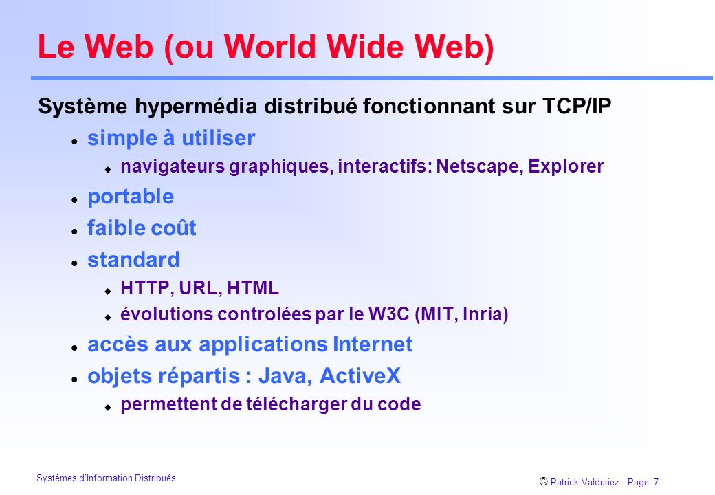Le Web (ou World Wide Web)