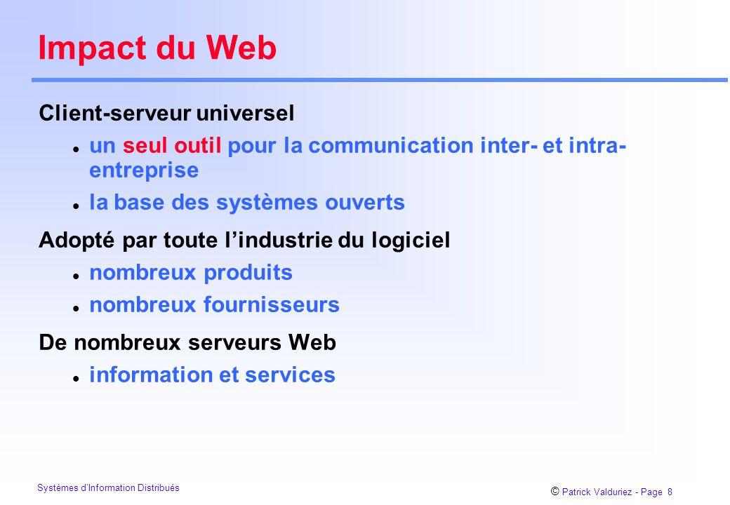 Impact du Web Client-serveur universel