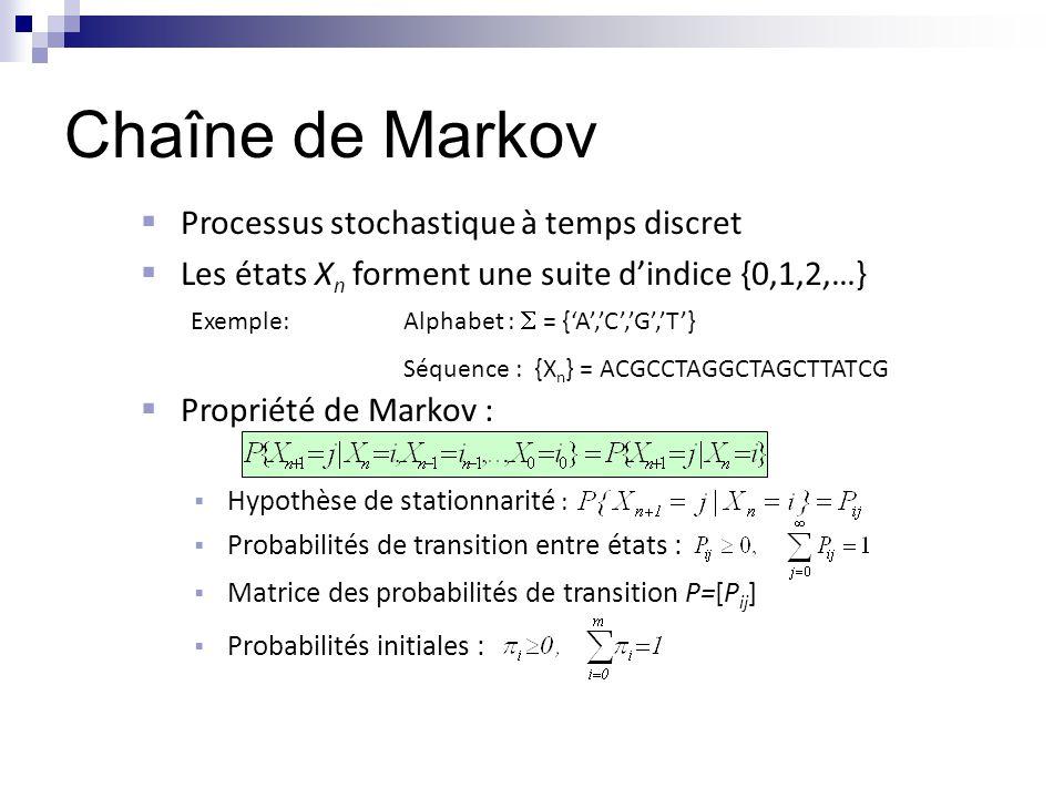 Chaîne de Markov Processus stochastique à temps discret