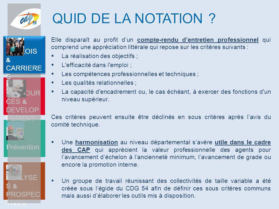 QUID DE LA NOTATION