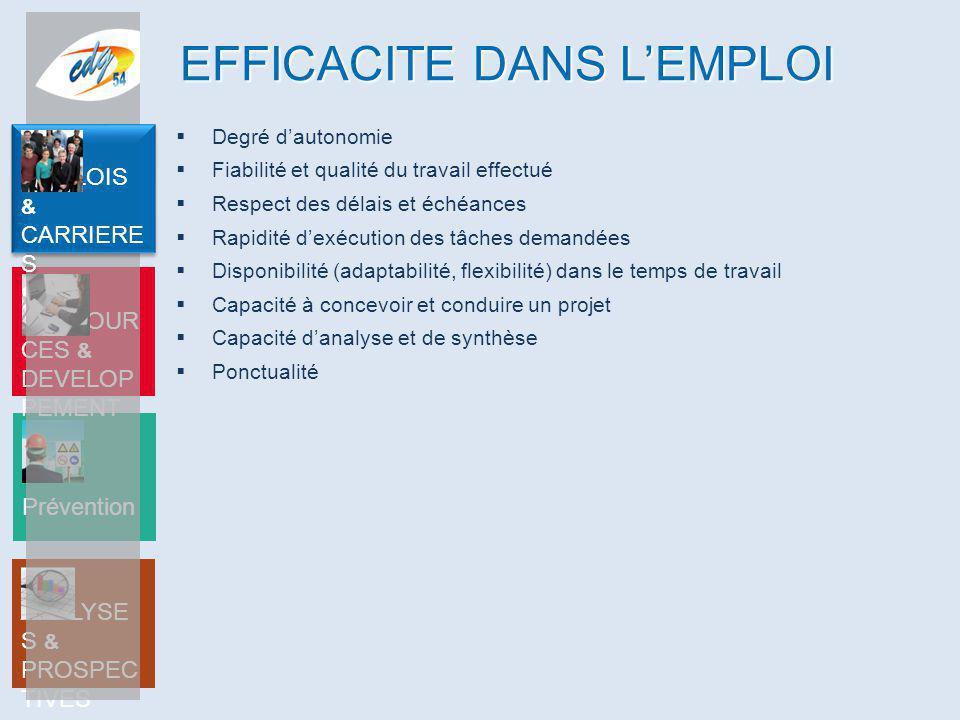 EFFICACITE DANS L'EMPLOI