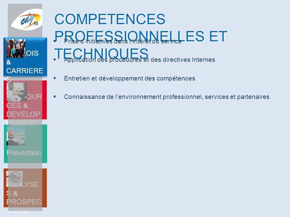 COMPETENCES PROFESSIONNELLES ET TECHNIQUES