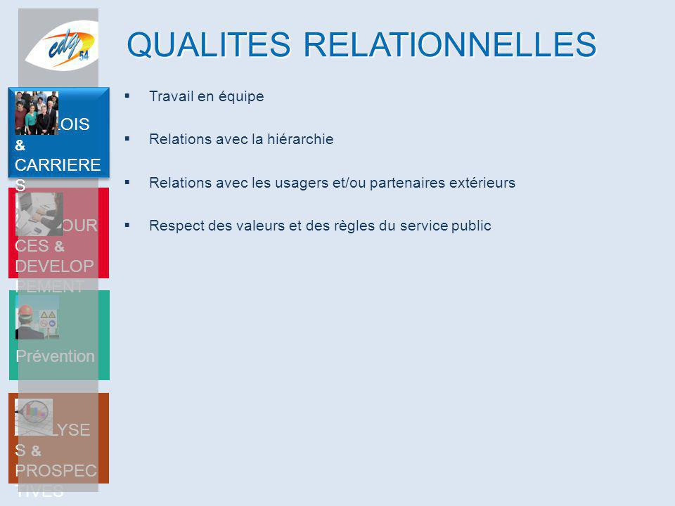 QUALITES RELATIONNELLES