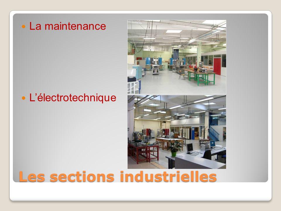 Les sections industrielles