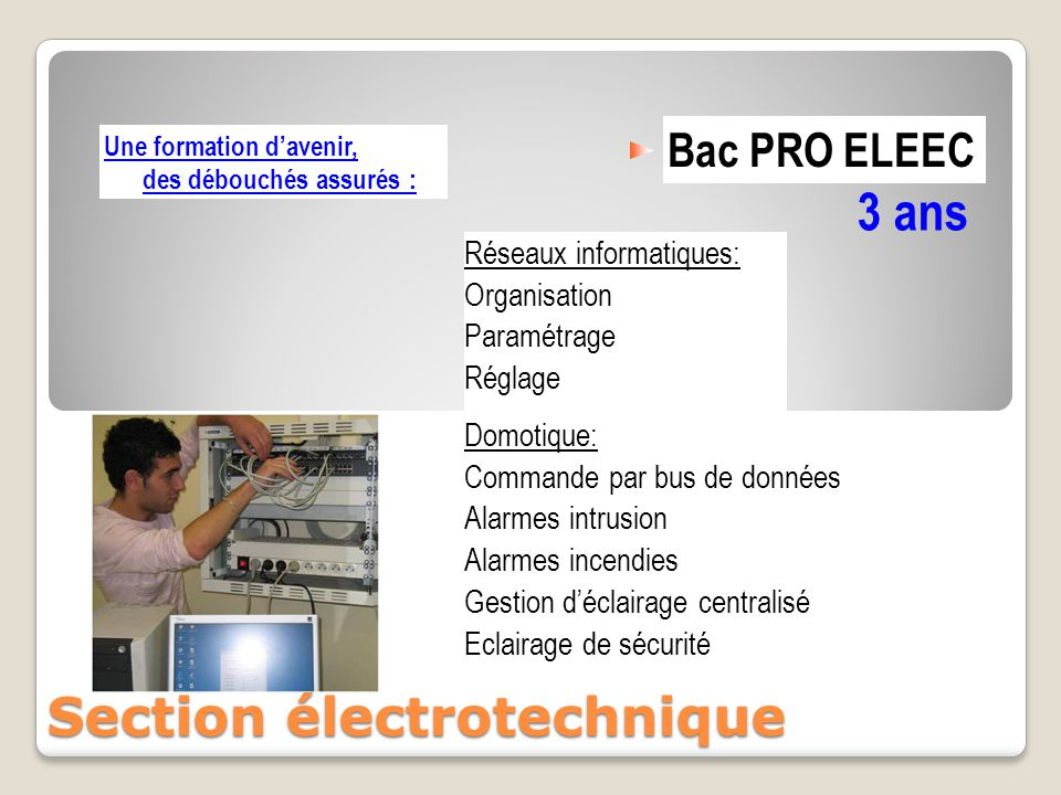 Section électrotechnique