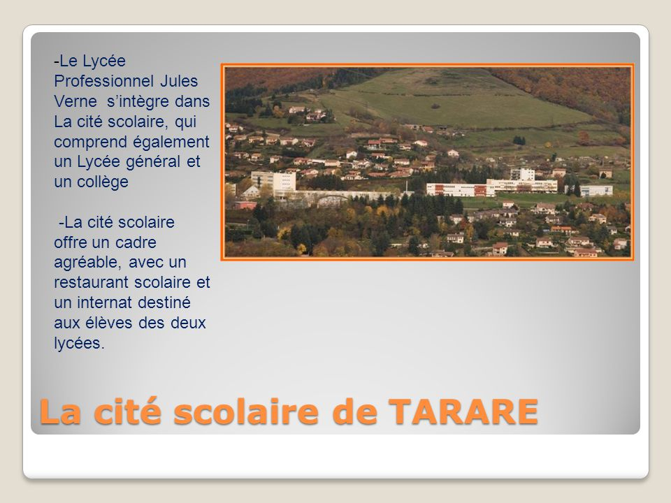 La cité scolaire de TARARE