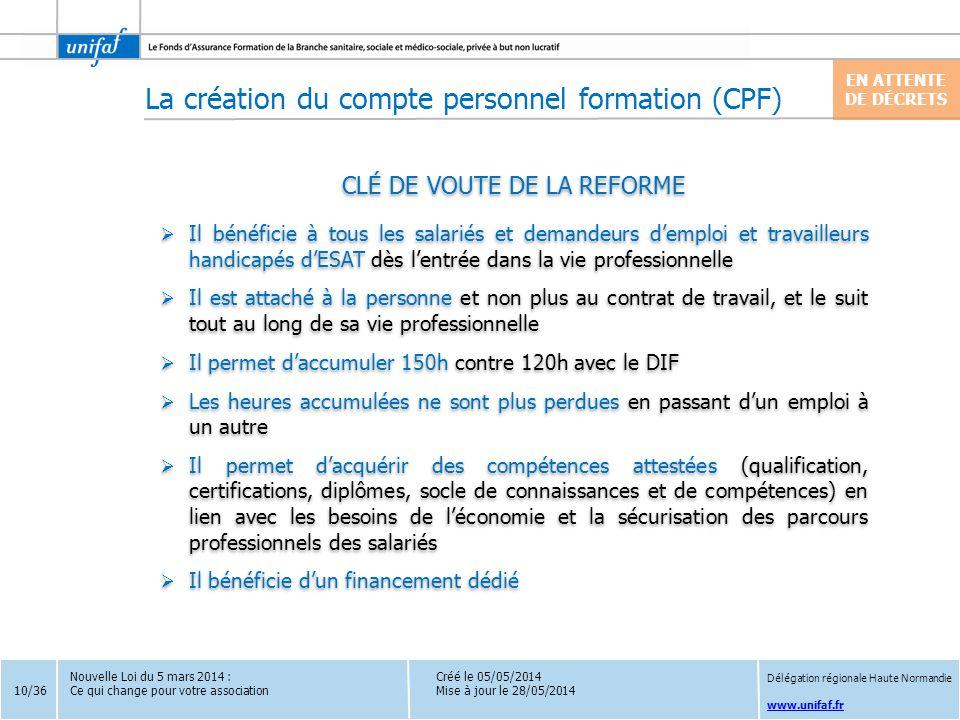 CLÉ DE VOUTE DE LA REFORME