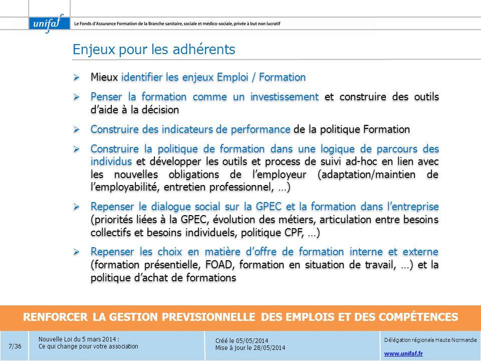 RENFORCER LA GESTION PREVISIONNELLE DES EMPLOIS ET DES COMPÉTENCES