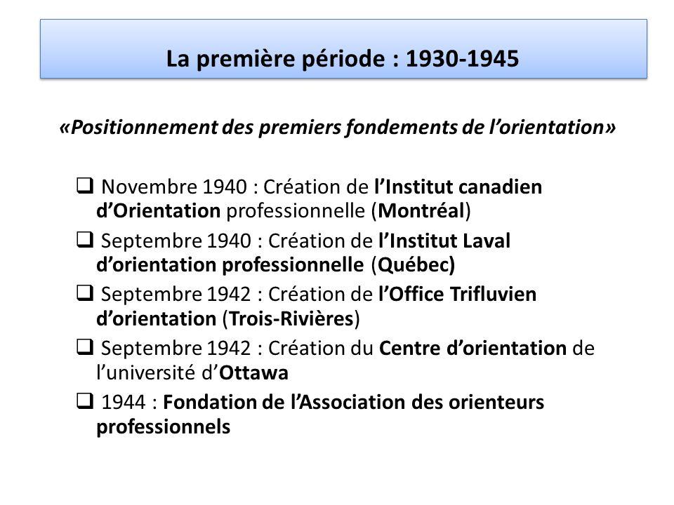 «Positionnement des premiers fondements de l'orientation»