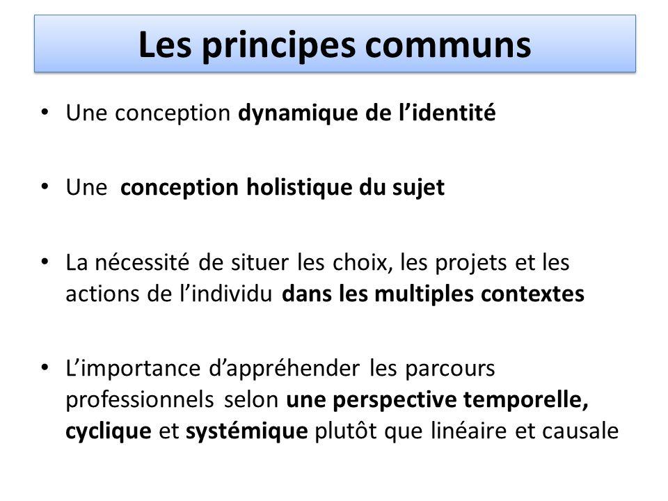 Les principes communs Une conception dynamique de l'identité