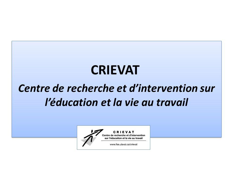 CRIEVAT Centre de recherche et d'intervention sur l'éducation et la vie au travail