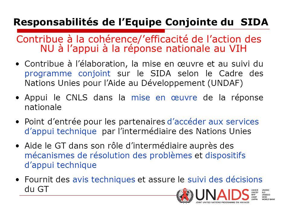 Responsabilités de l'Equipe Conjointe du SIDA