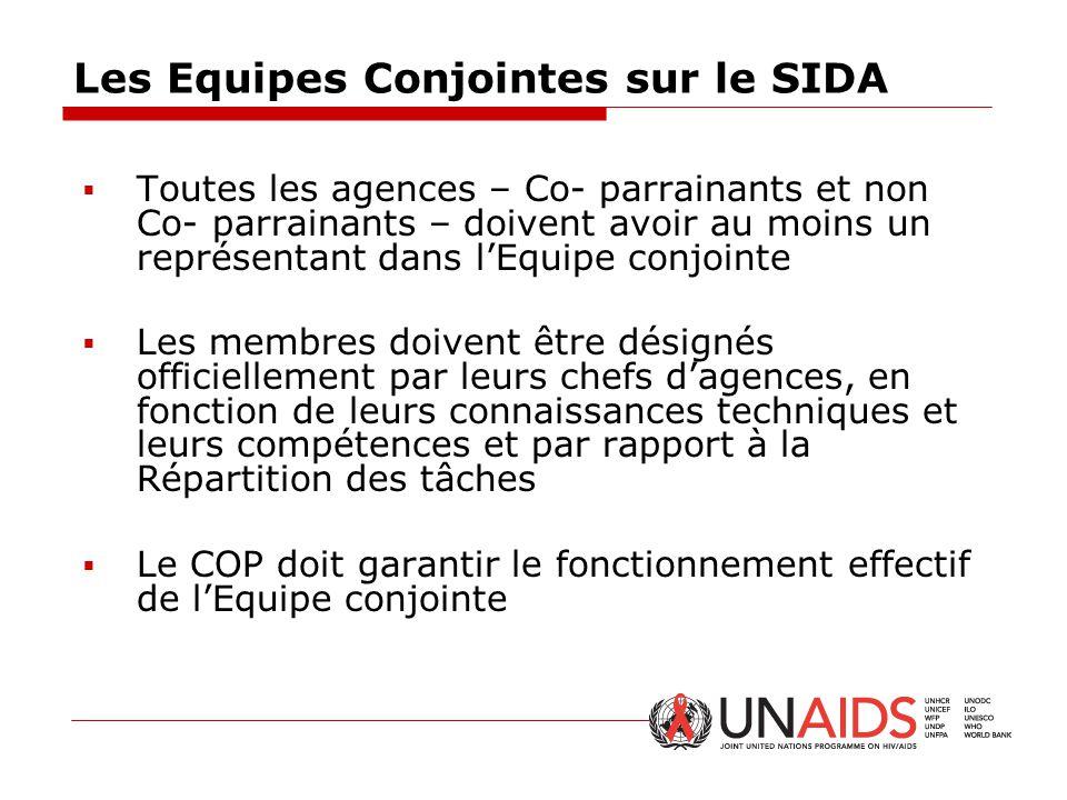 Les Equipes Conjointes sur le SIDA