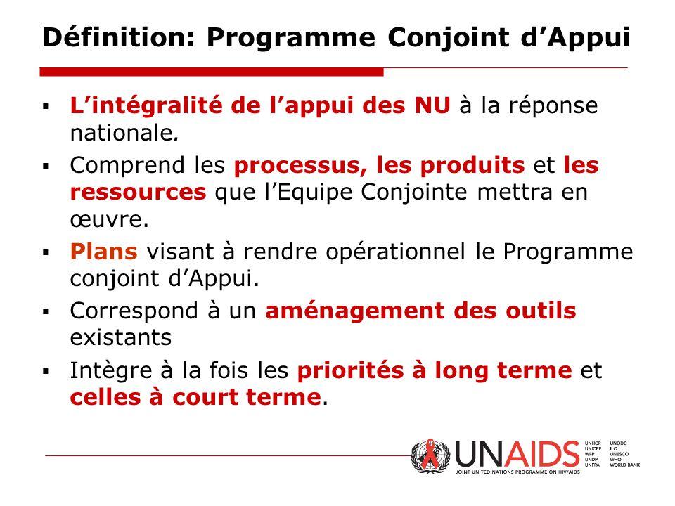 Définition: Programme Conjoint d'Appui