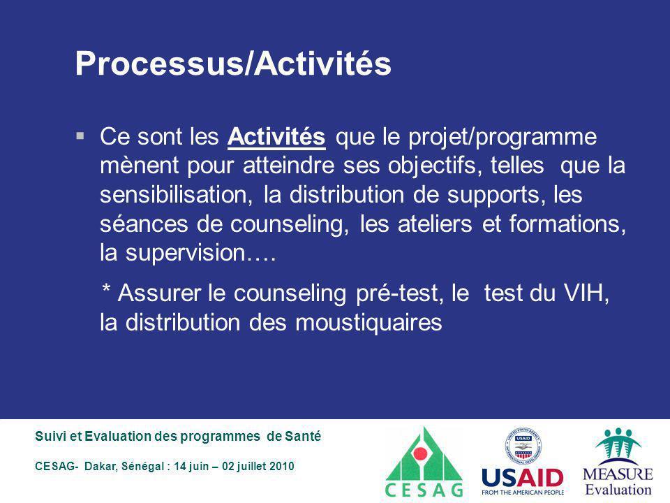 Processus/Activités