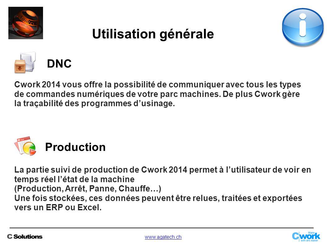 Utilisation générale DNC Production