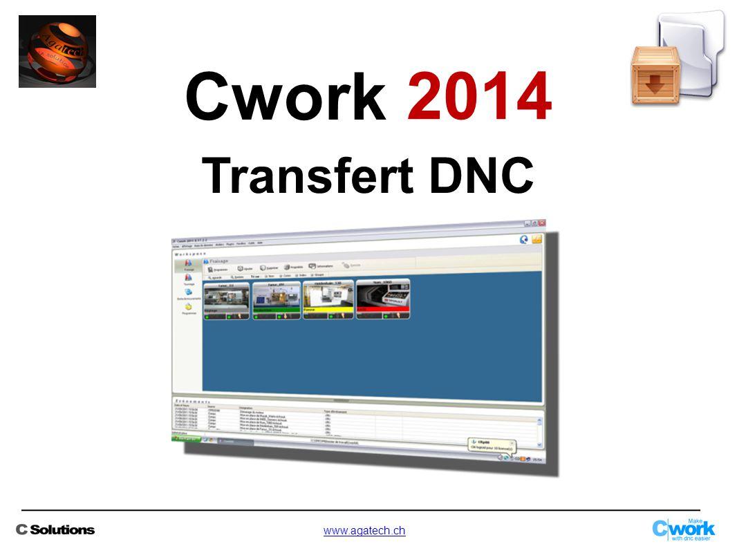 Cwork 2014 Transfert DNC www.agatech.ch