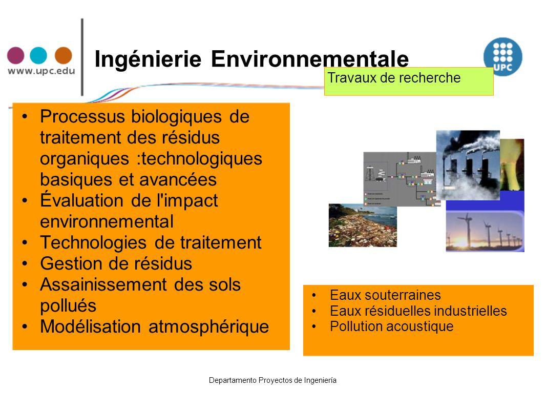 Ingénierie Environnementale