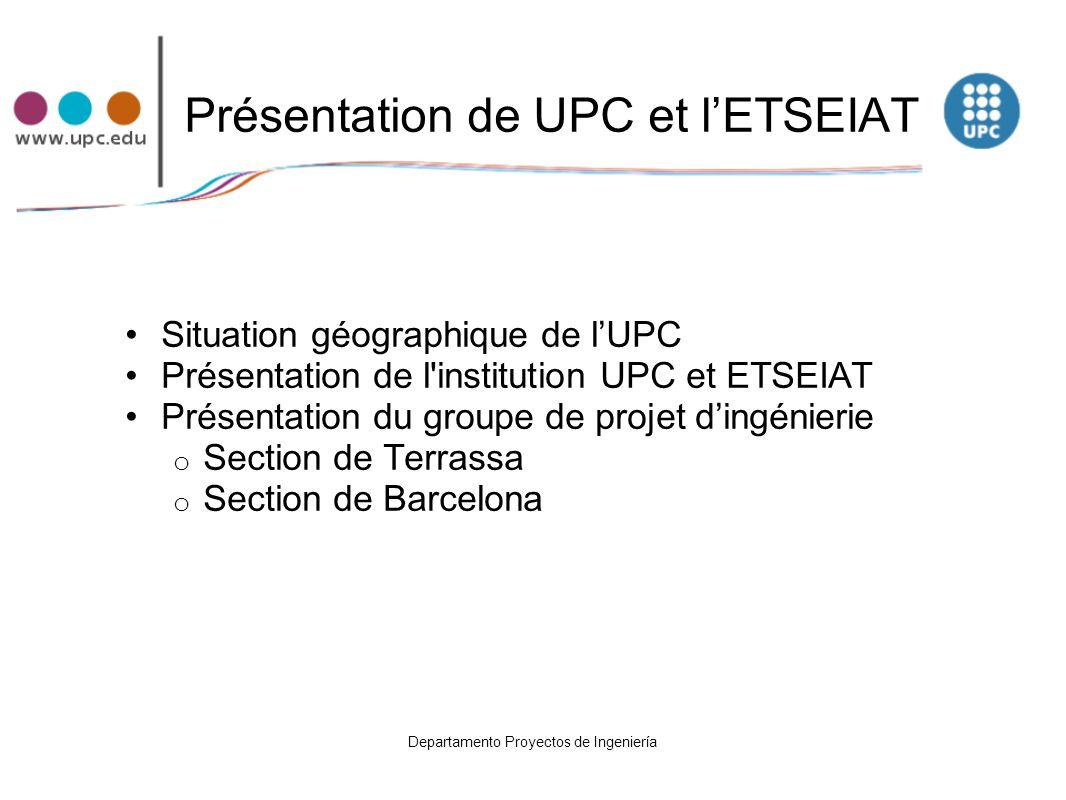 Présentation de UPC et l'ETSEIAT