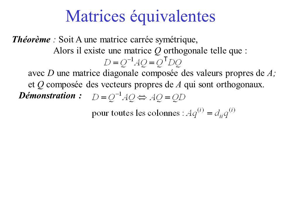 Matrices équivalentes