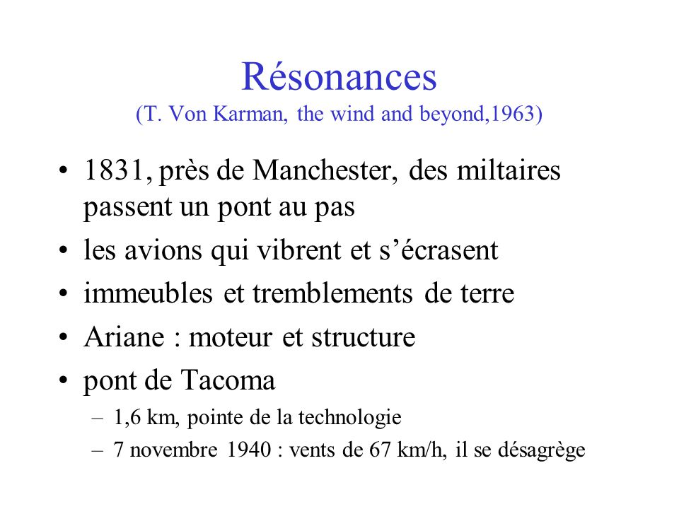 Résonances (T. Von Karman, the wind and beyond,1963)