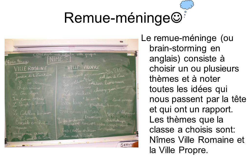 Remue-méninge☺