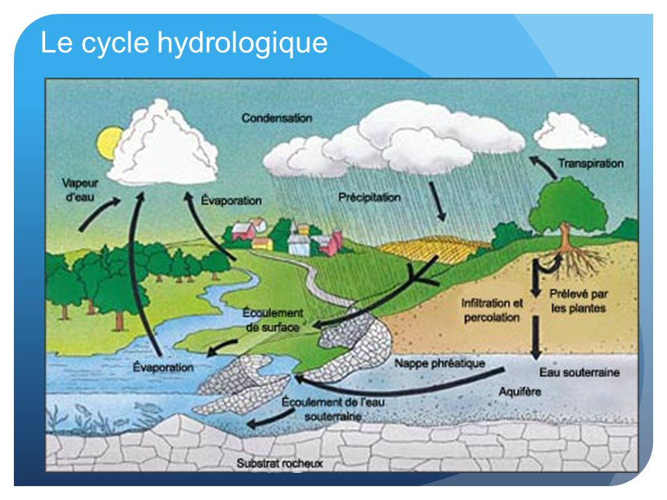 Le cycle hydrologique
