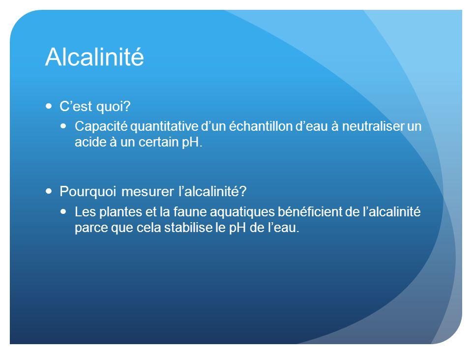 Alcalinité C'est quoi Pourquoi mesurer l'alcalinité