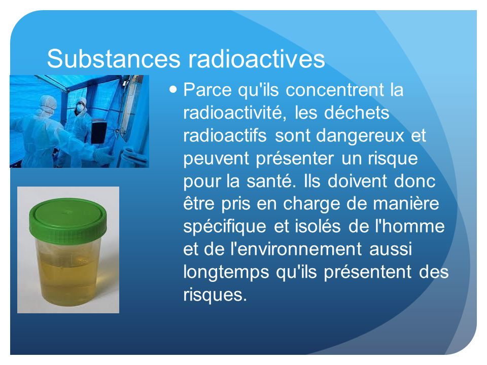 Substances radioactives