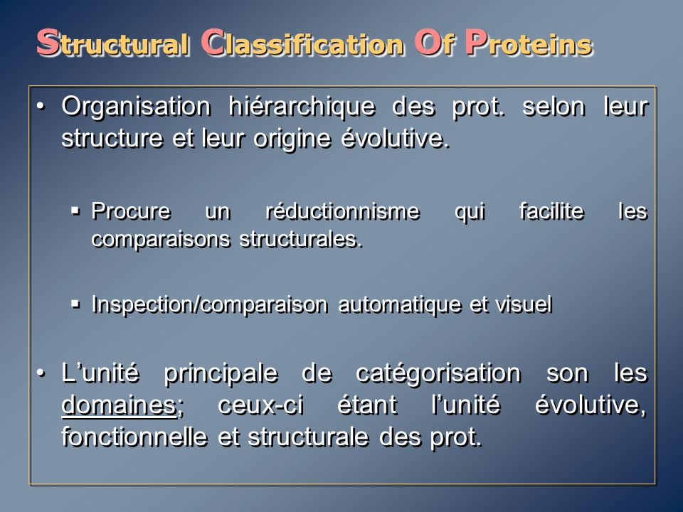 Structural Classification Of Proteins
